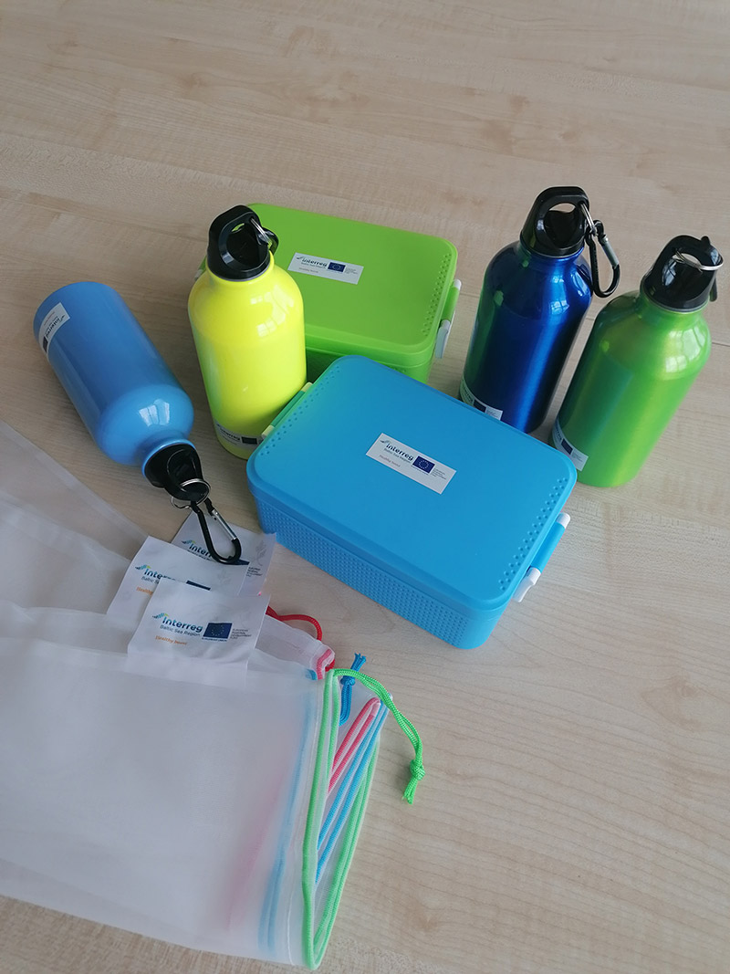 Healthy Boost lunch boxes, water bottles and bags.