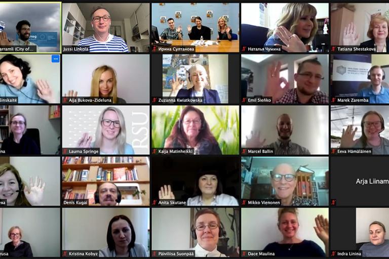 Healthy Boost project team members in Zoom meeting.