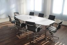 Empty meeting room.